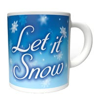 Christmas Mug Let It Snow Design