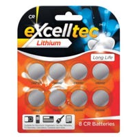 Lithium CR Batteries 8 Pack