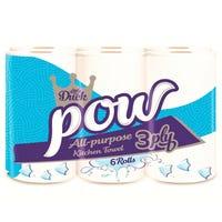 Little Duck Pow Kitchen Towel 3ply 6 Pack