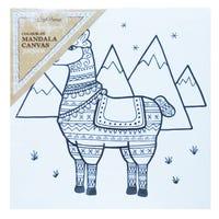 Craft Mania Colour In Mandala Canvas Llama
