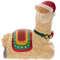 Festive Friends Christmas Llama Ceramic Money Box