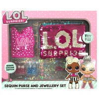 Lol Surprise Sequin Switch Purse And Jewellery Set