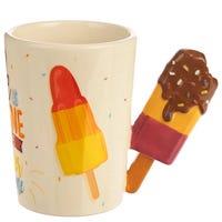Ceramic Ice Lolly Shaped Handle Mug with Slogan