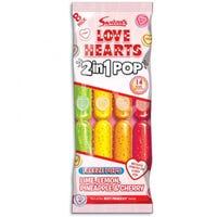 Swizzels Love Hearts 2 in 1 Ice Pops 8 Pack