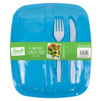 Lunch Box and Cutlery Set Blue
