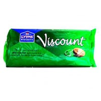 Lyons Viscount 14 Pack Chocolate Biscuits - Mint