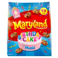 Maryland Cookies Birthday Cake Mini's 6 Pack