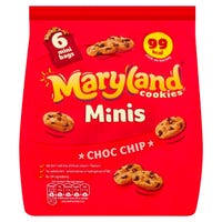 Maryland Cookies Chocolate Chip Minis 6 Pack