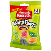Maynards Bassetts Tangy Wine Gums 165g