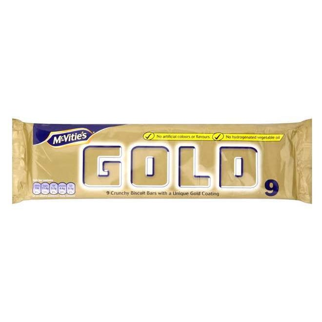 Mcvities Gold Biscuit Bars 9 Pack