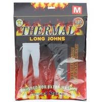 Men's Black Thermal Long Johns Medium