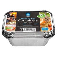 9 Pack of Medium Foil Containers With Lids