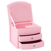 Mele and Co Small Faux Leather Jewellery Case in Pink