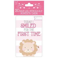 Baby Girl Memorable Moments 30 Cards