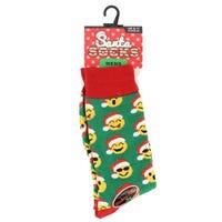 Mens Novelty Christmas Socks Emoji Face