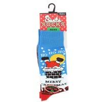 Mens Novelty Christmas Socks Ho Ho Ho