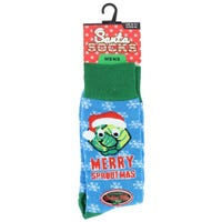 Mens Novelty Christmas Socks Merry Sproutmas