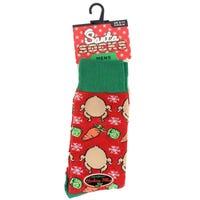Mens Novelty Christmas Socks Turkey Dinner