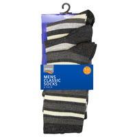 Mens Stripe Ankle Socks Size 7-11 3 Pack
