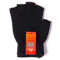 Mens Thermal Fingerless Gloves Black