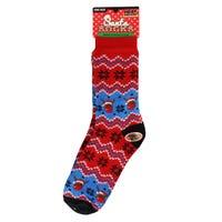 Christmas Fur Lined Mens Slipper Socks in Reindeer Design