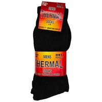 Mens Thermal Socks in Black 3 Pack