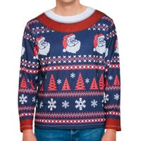 Christmas Patterned Jumper Top for Adults