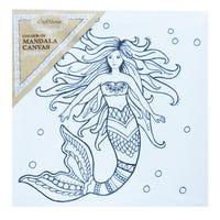 Craft Mania Colour In Mandala Canvas Mermaid
