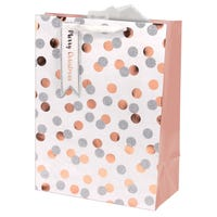 Christmas Metallic Spots Medium Gift Bag