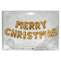 Merry Christmas Balloon Banner in Gold