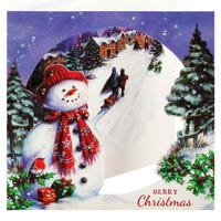 Tom Smith Christmas Cards with Snowman 12 Pack