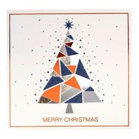 Tom Smith Christmas Cards with Christmas Tree 12 Pack