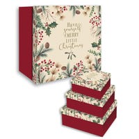 Merry Christmas Nesting Boxes 3 Pack