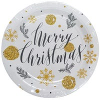 Merry Christmas Paper Plates 8 Pack