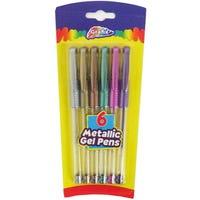 Grafix Gel Pens Metallic 6 Pack