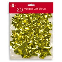 Metallic Bows in Gold 20 Pack