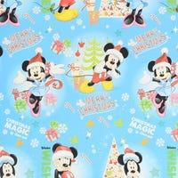 Christmas Gift Wrap Disney Mickey Blue Christmas Magic 6m