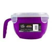 Microwavable Food Bowl Purple