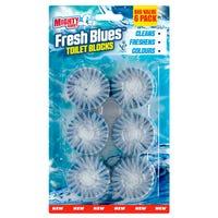 Mighty Burst Fresh Blues Toilet Blocks 6 Pack