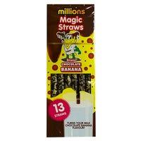 Millions Magic Straws in Chocolate Banana 13 Pack