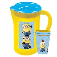 Minions Picnic Pitcher And 3 Small Tumblers Set