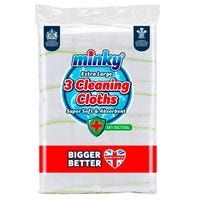 Minky Extra Large Cleaning Cloths 3 Pack