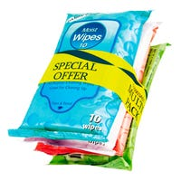Handy Moist Wipes 10's 4 Pack