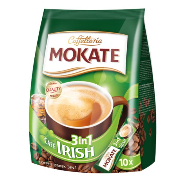 Mokate Bag Irish Latte 3in1 Sachet 10 Pack