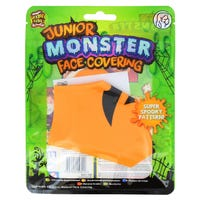 Heebie Jeebies Junior Monster Face Covering in Pumpkin