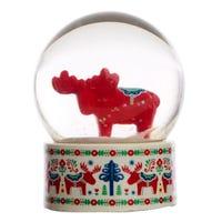 Scandi Moose Snow Globe