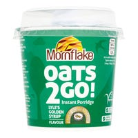 Mornflake Oats '2' Go Lyle's Golden Syrup Porridge Pot 62g