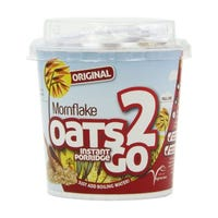 Mornflake Oats '2' Go Original Porridge Pots 53g