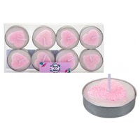 Mum in a Million Glitter Heart Tealights 8 Pack