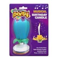 Musical Birthday Candle Blue